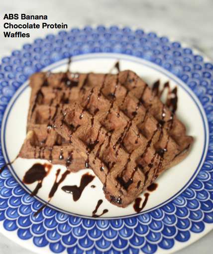 ABS Banana Chocolate Protein Waffles