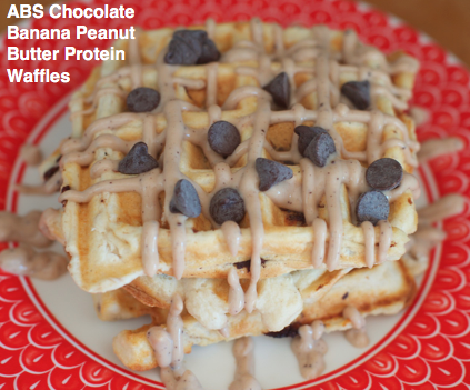 ABS Chocolate Banana Peanut Butter Protein Waffles
