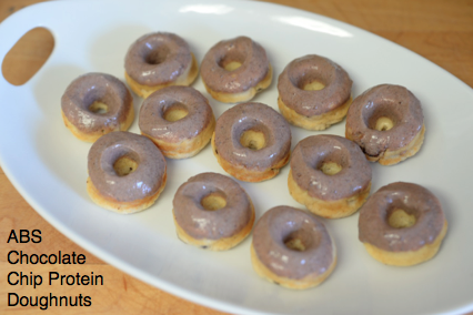 Chocolate Chip Protein Doughnuts with Chocolate Icing