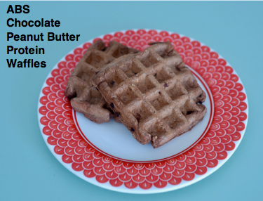 ABS Chocolate Peanut Butter Protein Waffles