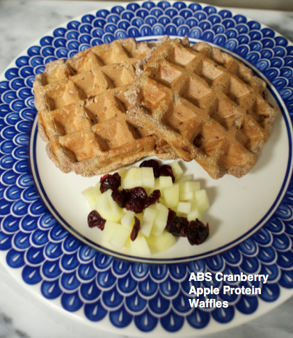 ABS Cranberry Apple Protein Waffles Recipe