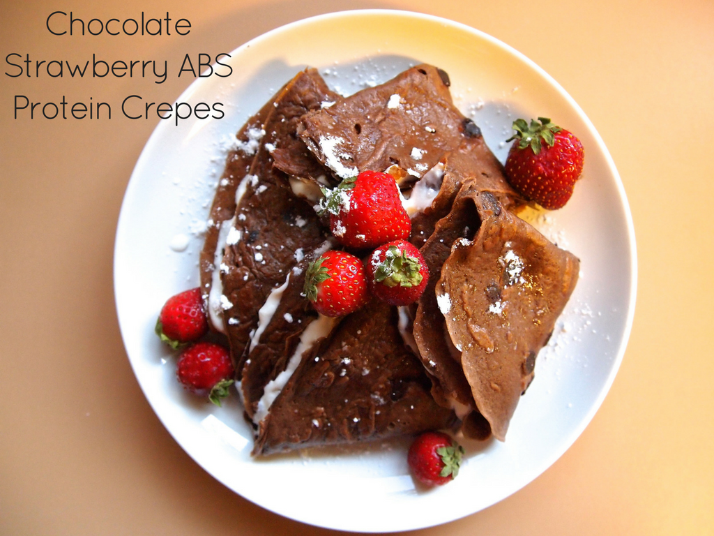 Chocolate Strawberry ABS Protein Crepes Recipe