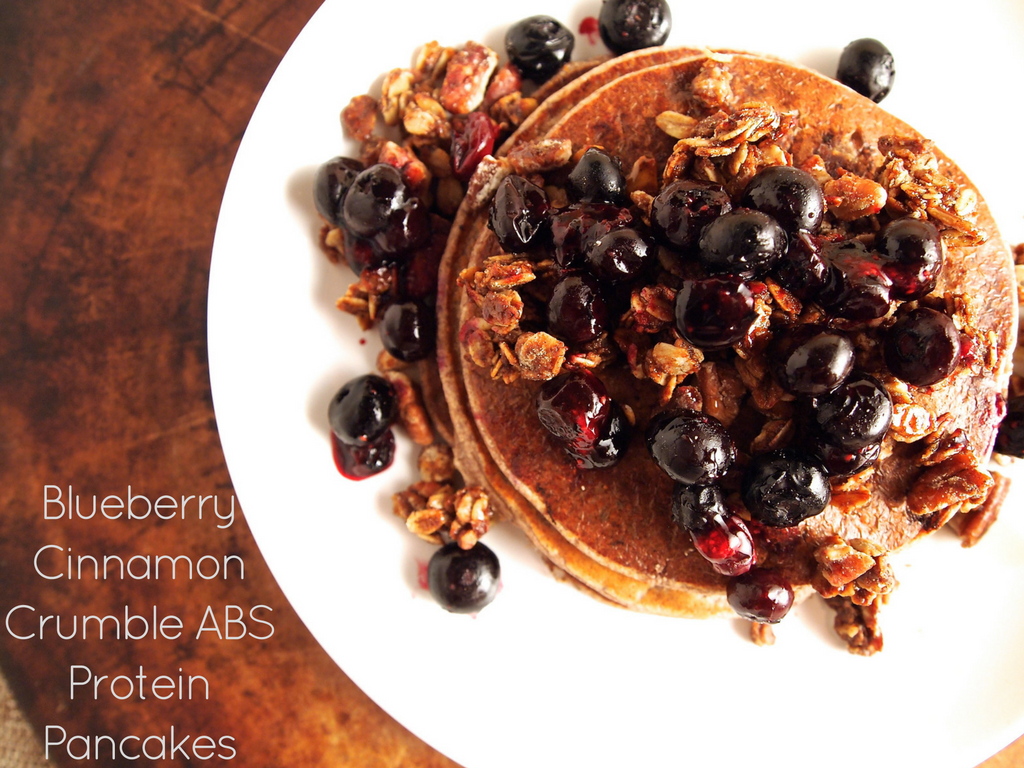 Blueberry Cinnamon Crumble ABS Protein Pancakes