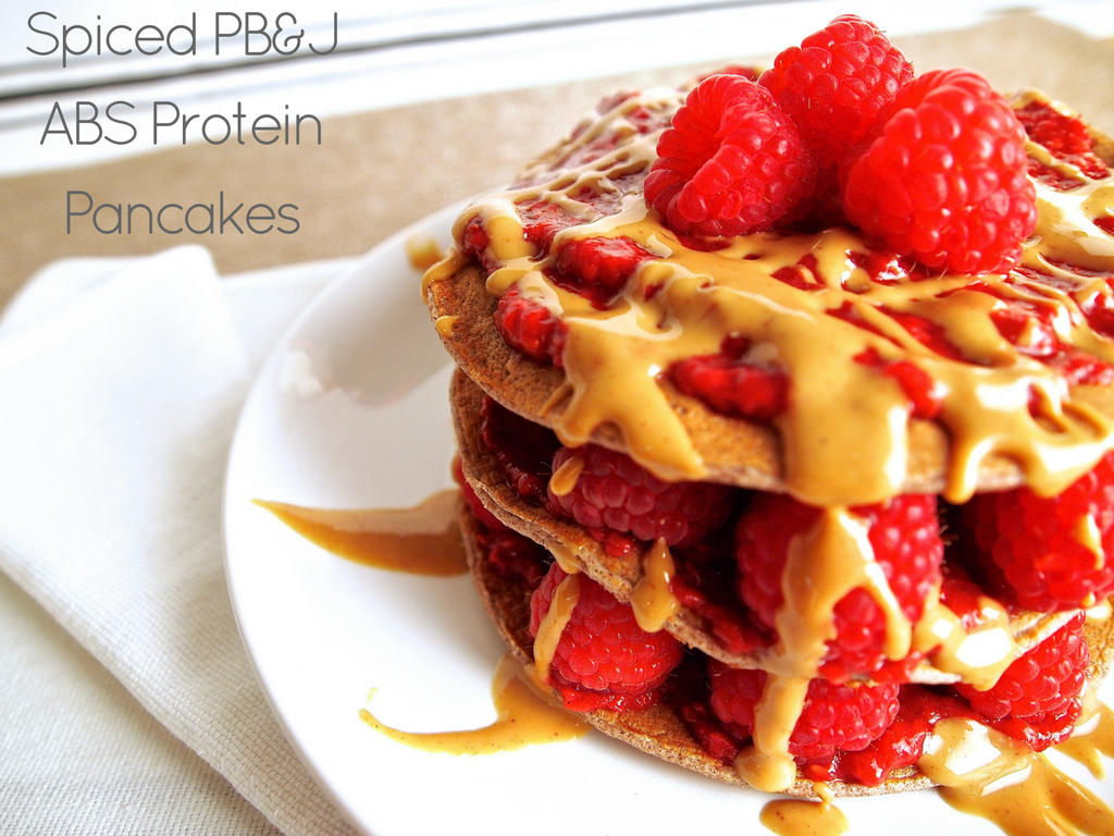 Spiced PB & J ABS Protein Pancakes