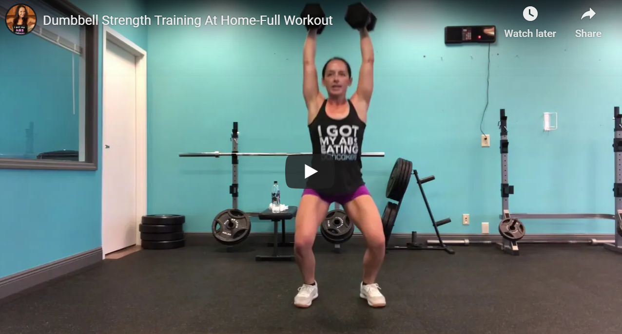 At Home Dumbbell Strength Training Workout Video