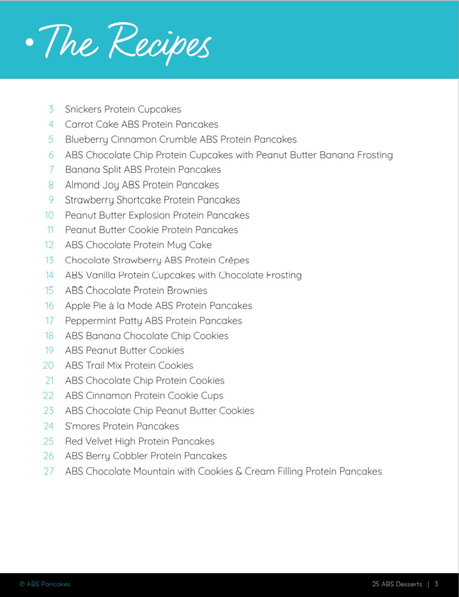 25 ABS Protein Healthy Dessert Recipe Ebook