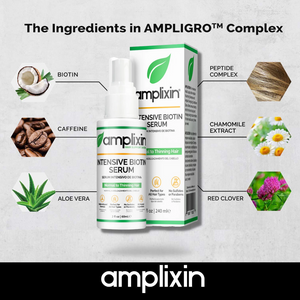 Amplixin Hair Growth Support System - Intensive Growth Serum, Stimulating Shampoo and Revitalizing Conditioner