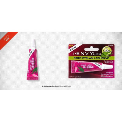 Kiss i.ENVY Strip Eyelash Adhesive With Aloe Clear KPEG04A - LocoBeauty
