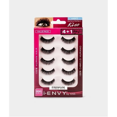 Kiss i.ENVY Premium Human Hair Juicy Volume 01 4+1 Free Pairs KPEM12 - LocoBeauty