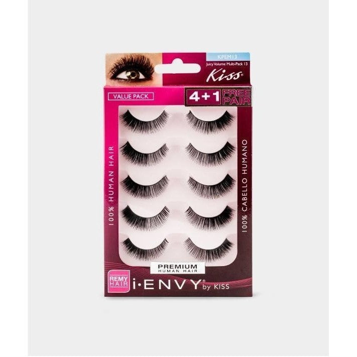 Kiss i.ENVY Premium Human Hair Juicy Volume 13 4+1 Free Pair KPEM13