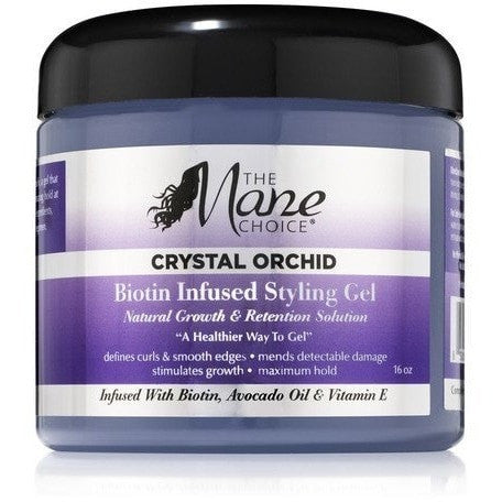 Crystal Orchid Biotin Infused Styling Gel 16 Ounce