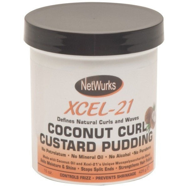 Netwurks Coconut Curl Custard Pudding Xcel-21 15 Ounce