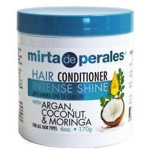 Mirta De Perales Hair Conditioner Intense Shine With Argan, Coconut & Moringa 6 Ounce