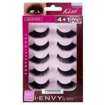Kiss i.ENVY Premium Human Hair Juicy Multi-Pack 14 4+1 Free Pair KPEM14