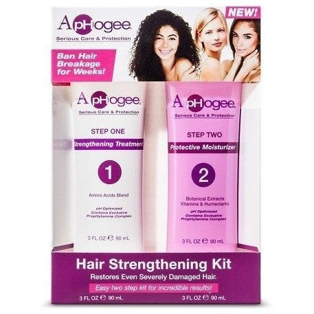 ApHogee Hair Strengthening Kit Easy Two Step Kit For Incredible Results 3 Ounce