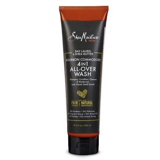 Shea Moisture Men Bay Laurel & Shea Butter 4-In-1 Wash 10.3 Ounce