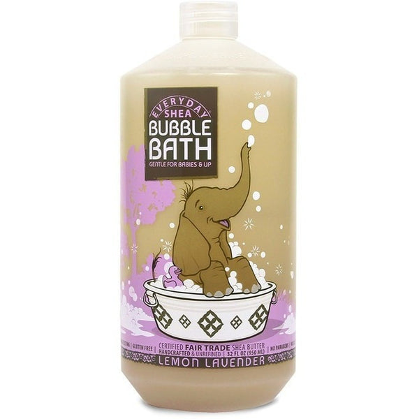 Alaffia Everyday Lemon Lavender Shea Bubble Bath Gentle For Babies 32 Ounce