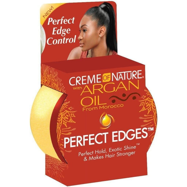 Cream of Nature Argan Oil Perfect Edges Hair Gel 2.25 Ounce