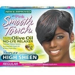 Pink Smooth Touch Relaxer High Sheen Regular One Retouch Application
