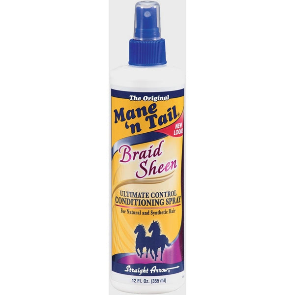 Mane n Tail Braid Sheen Ultimate Control Conditioning Spray 12 Ounce