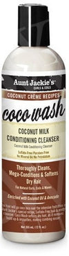 Aunt Jackie's Coco Wash Coconut Milk Conditioning Cleanser 12 OZ