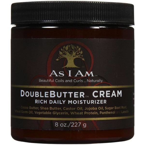 As I Am Double Butter Cream Rich Daily Moisturizer 8 Ounce