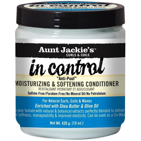 "Aunt Jackie's in control ""Anti-Poof"" Moisturizing & Softening Conditioner 15 Ounce"