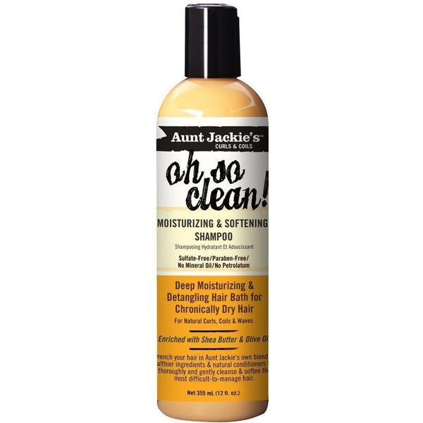 Aunt Jackie's Oh So Clean Moisturizing and Softening Shampoo 12 Ounce