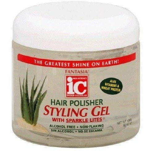 Fantasia IC Hair Polisher Styling Gel with Sparkle Lites 16 Ounce