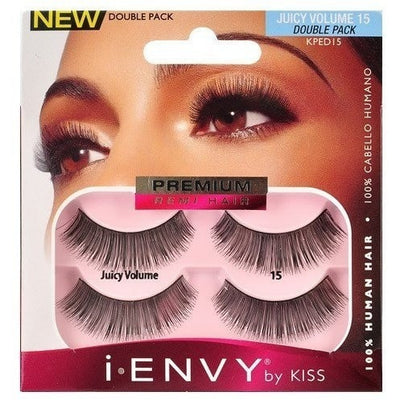 Kiss i.ENVY Premium Remi Hair Juicy Volume 15 Double Pack KPED15 - LocoBeauty