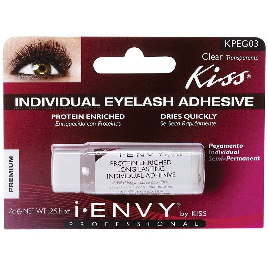 15b762cd3d4 Kiss i.ENVY Individual Eyelash Adhesive Clear KPEG03 - LocoBeauty