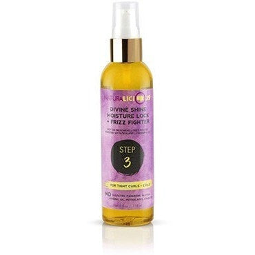 NaturaLicious Divine Shine Moisture Lock + Frizz Fighter Step 3 4 Ounce