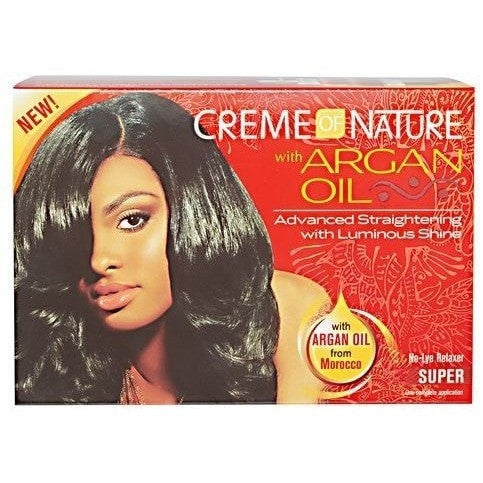 Creme Of Nature Argan Oil No-Lye Relaxer Super One Application