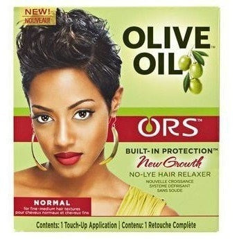 ORS Olive Oil Built-In Protection New Growth No-Lye Hair Relaxer Normal