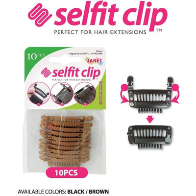 Janet Selfit Clip Perfect for Hair Extensions - LocoBeauty