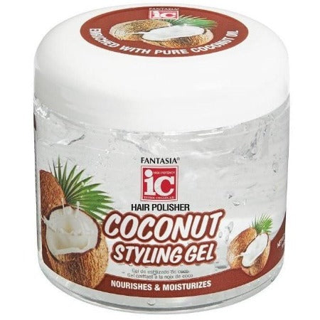 Fantasia IC Hair Polisher Coconut Styling Gel 16 Ounce