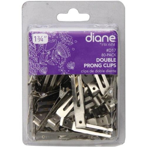 Diane Double Prong Clip 1.75 Inches 80-Pack D17