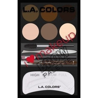 LA Colors I Love Makeup Brow Palette Medium-Dark