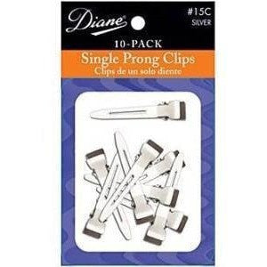 "Diane Single Prong Clips 1-3/4"" 10-Pack D15C"