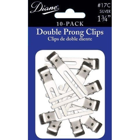 Diane Double Prong Clip 1.75 Inches 10-Pack D17C