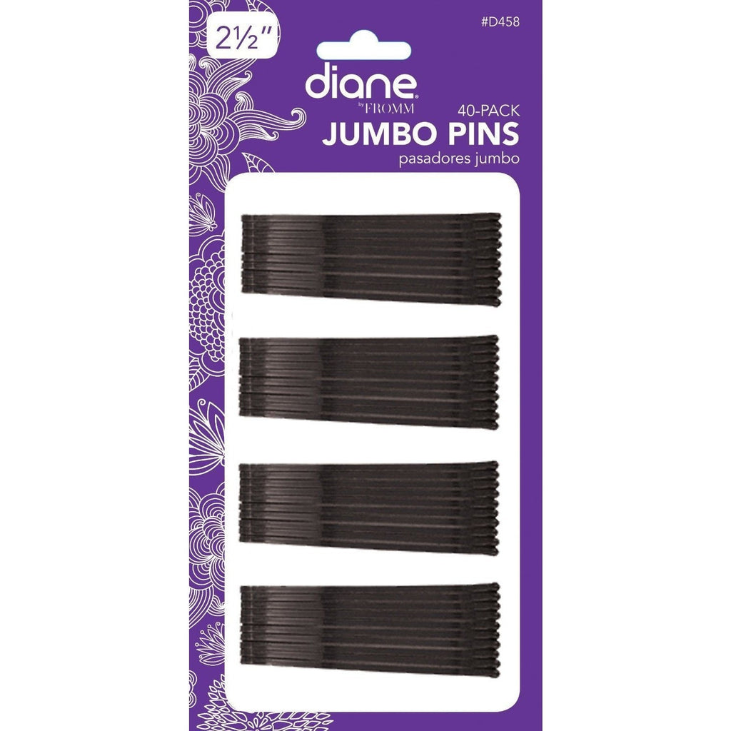 "Diane Jumbo Bob Pins D458 2-1/2"" Black 40-Pack"