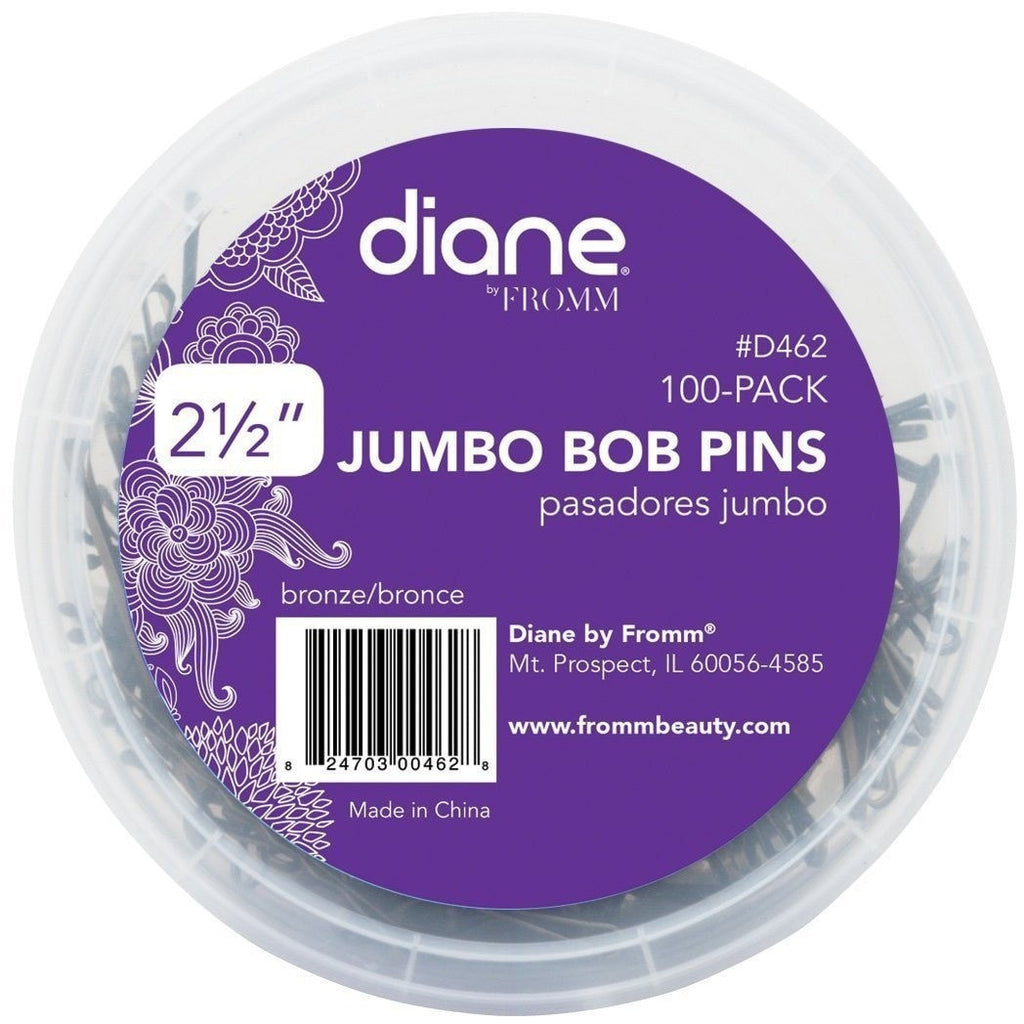 "Diane Jumbo Bob Pins D462 2-1/2"" Black 100-Pack"