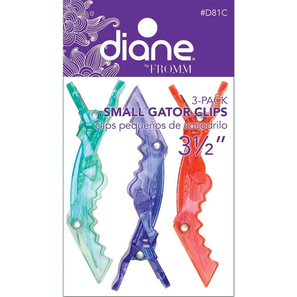"Diane Gator Clips 3-1/2"" Small 3-Pack D81C"