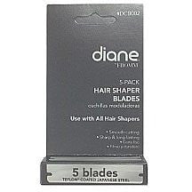 Diane Stainless Steel Polymer Coated Shaper Blades 5-Pack - LocoBeauty