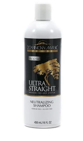 Dominican Magic Ultra Straight Protein Infused System Neutralizing Shampoo 16 Ounce