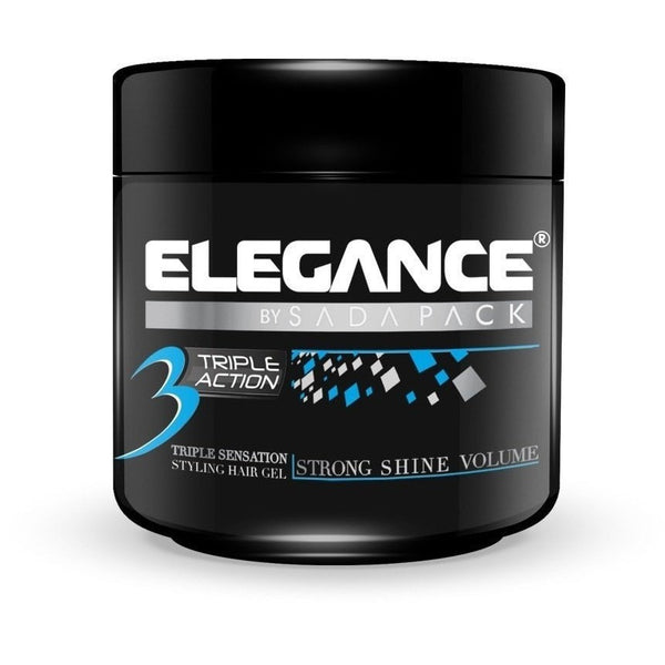 Elegance Triple Action Gel 17.6 oz Strong Shine Volume
