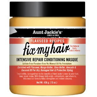 Aunt Jackie's Flaxseed Recipes Fix My Hair Intensive Repair Conditioning Masque 15 Ounce