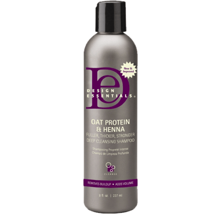 Design Essentials Oat Protein & Henna Deep Cleansing Shampoo 8 Ounce