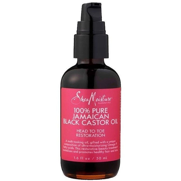 Shea Moisture 100% Pure Jamaican Black Castor Oil Head To Toe Restoration 1.6 oz