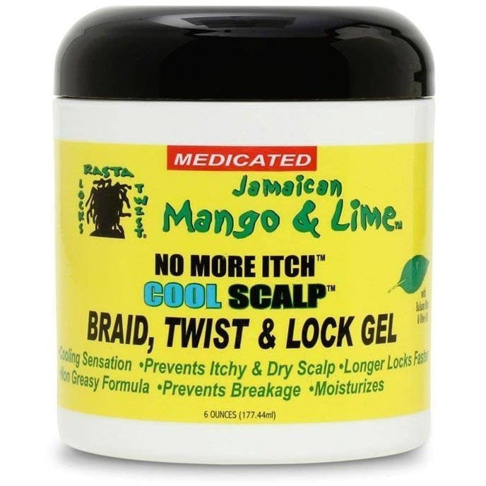 Jamaican Mango & Lime No More Itch Cool Scalp Braid, Twist & Loc Gel 6 Ounce